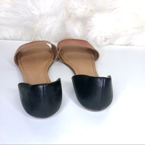 Merona Shoes - MERONA | Black and Tan open toe flats